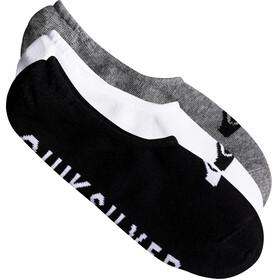 Quiksilver Liner - Chaussettes - 3 Pack gris/noir